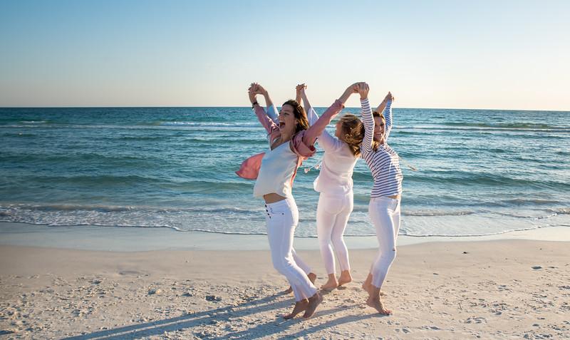 Creative family beach photography