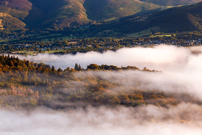 Mist over Keswick, Lake District, Cumbria, England