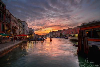 Sunset in Venezia, Italy (Venice).