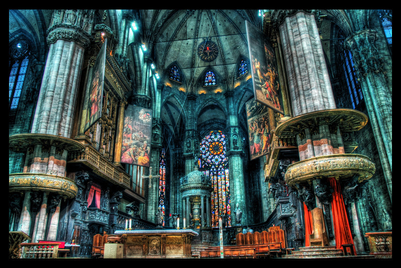 "<h2>The Airy Doom of the Duomo</h2> <br/>The most difficult thing about this shot was hiding my tripod from the security guards.  The second hardest thing was the HDR processing from this shot melting my CPU core.<br/><br/>- Trey Ratcliff<br/><br/><a href=""http://www.stuckincustoms.com/2006/08/02/more-church-interiors/"" rel=""nofollow"">Click here to read the rest of this post at the Stuck in Customs blog.</a>"
