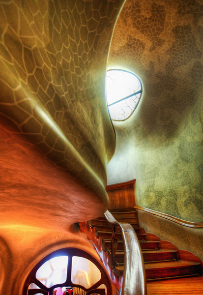 """<h2>The Myst Staircase</h2> <br/>I wish I could have met Gaudi.  The only thing I know about him is his art, but I'm guessing he was an interesting guy. <br/><br/>I also would have like to own one of his houses, but then I'd be in a pickle.  He only designed and built a few of these houses, and I think living inside of them would be amazing.  But, since it is such a work of art, I'd feel compelled to share it with the world.  You can't live in it AND open it up to the public - so what to do?  I'd like to say I'd be noble and open it up to the world, but the wonderfully selfish side of me would want it all to myself.  Maybe it's not that different than owning a Renoir.  Not that I own one of those either... but it is an interesting decision to think about. <br/><br/>- Trey Ratcliff<br/><br/><a href=""""http://www.stuckincustoms.com/2011/04/17/the-myst-staircase/"""" rel=""""nofollow"""">Click here to read the rest of this post at the Stuck in Customs blog.</a>"""