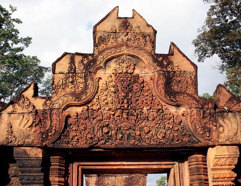 Siem Reap, Cambodia.  Banteay Srei temple