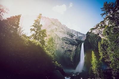 Sun Flares at Yosemite Falls
