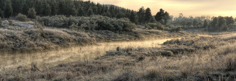 Winter's morning, Molonglo River, Canberra