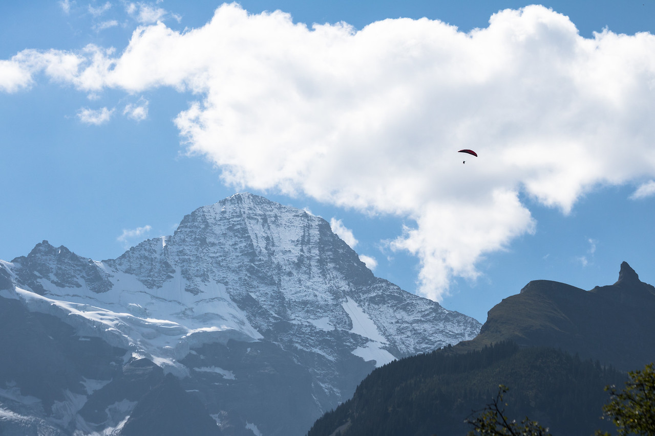 Moench mountain in the Swiss Alps