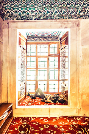 A Nap In The Window Sill Of The Blue Mosque