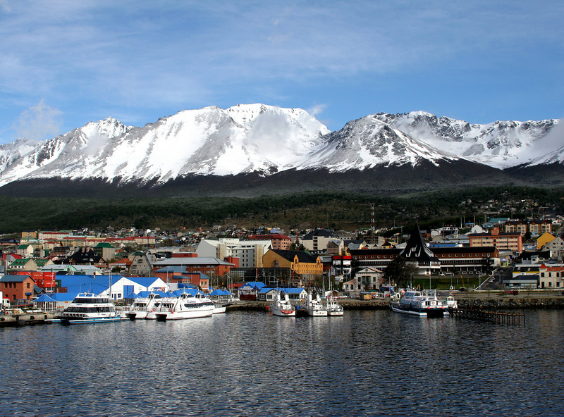 Ushuaia, Argentina, in Tierra del Fuego, the southernmost city in the world.