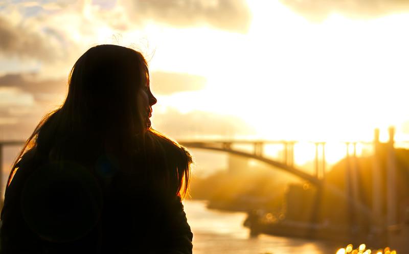 Sasha at Sunset