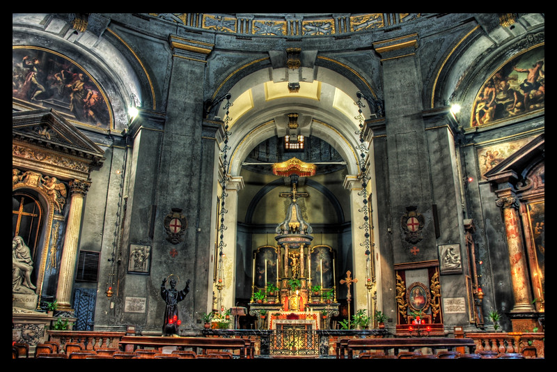The Haunting Interior of the Basilica I visited the Basilica of San Lorenzo, which was built in the 4th and 5th centuries from material from the leftover Roman amphitheater.- Trey RatcliffClick here to read the rest of this post at the Stuck in Customs blog.