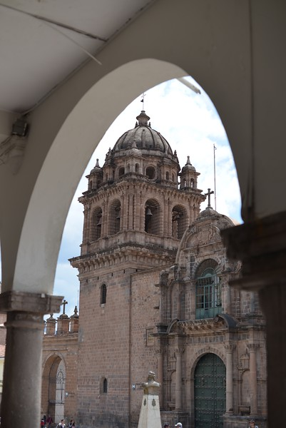 Church Through an Arch - Cusco Peru