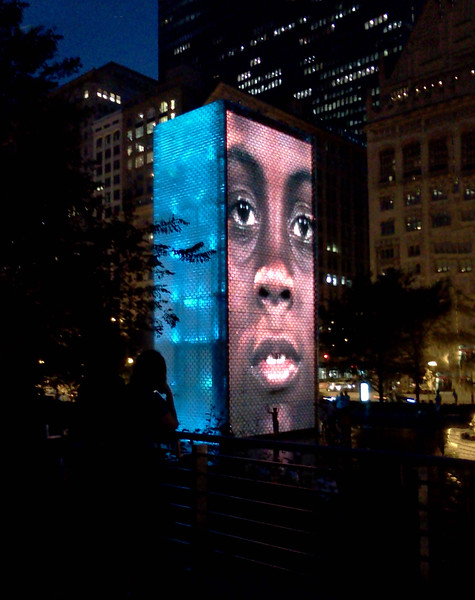 Millenium Park at Night. Chicago