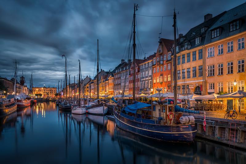 New Port in Copenhagen at night time