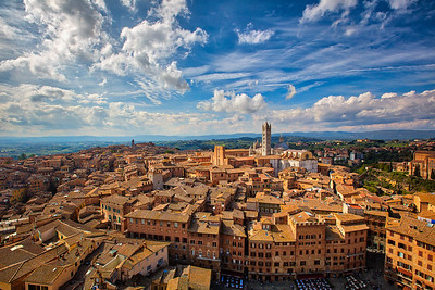 View of Siena from Torre del Mangia   Italy