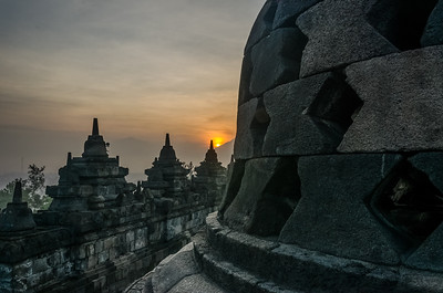 SUNRISE AT BOROBUDUR, INDONESIA, 2014.