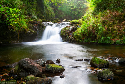 Upper Falls, Gleno Waterfall, County Antrim, Northern Ireland