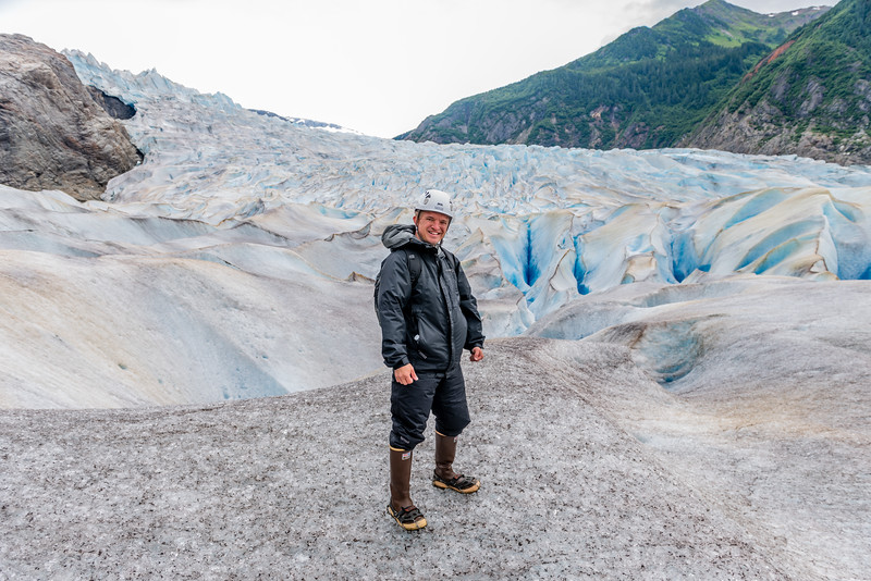 The Photographer on Mendenhall Glacier