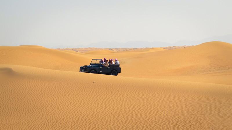 Riding through the sand dunes