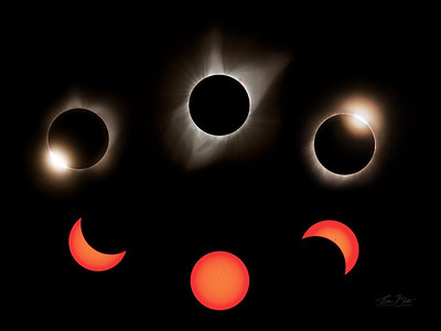 The Great American Eclipse in one single frame.