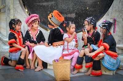 Child performers at Doi Suthep, Thailand