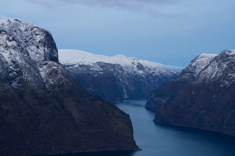 Aurland's fjord after sunrise (10:40 am), Norway (2018)