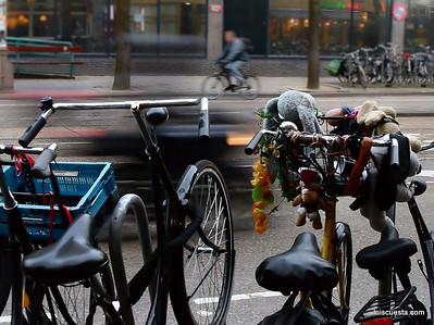 bike handlebars in Amsterdam
