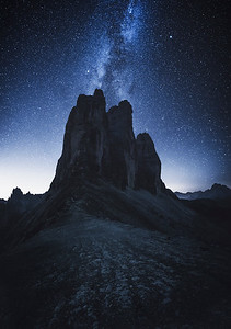 Night at Tre Cime, Italy