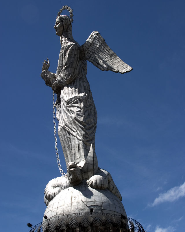 Quito, Ecuador - The Virgin of Quito, dominant landmark of the city