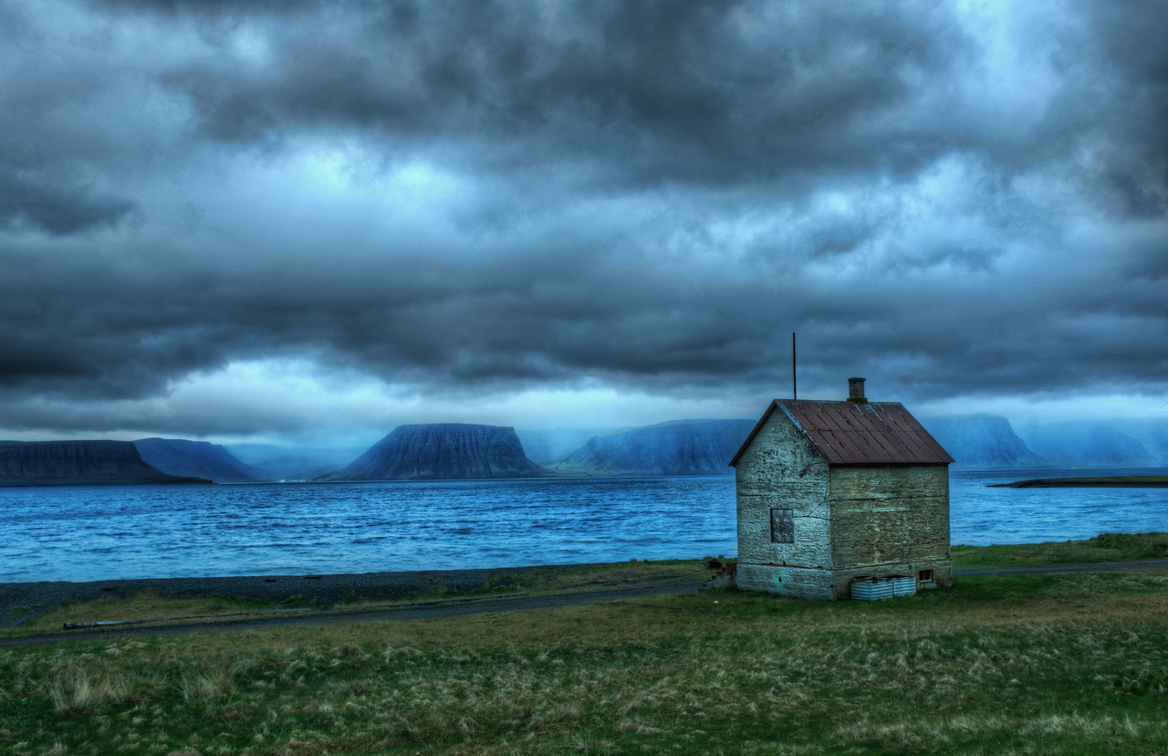 The Lonely Fishing Hut Most of the details behind this photo can be ascertained from the photo below.  This place really was in the middle of nowhere... I also have a new and improved site design at stuckincustoms.com!  Follow the link below to check it out.  There's also a new eBook on the way.  Comment on the blog page for a chance to win a copy!  I also have a behind-the-scenes video posted in this entry. - Trey Ratcliff Full post at the Stuck in Customs blog.