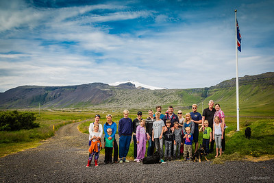 6 long-time girlfriends with their husbands and children spend a weekend together under Snæfellsjökull glacier (http://en.wikipedia.org/wiki/Sn%C3%A6fellsj%C3%B6kull). The weather was fantastic as was the company - PERFECT is the only way to describe this weekend!