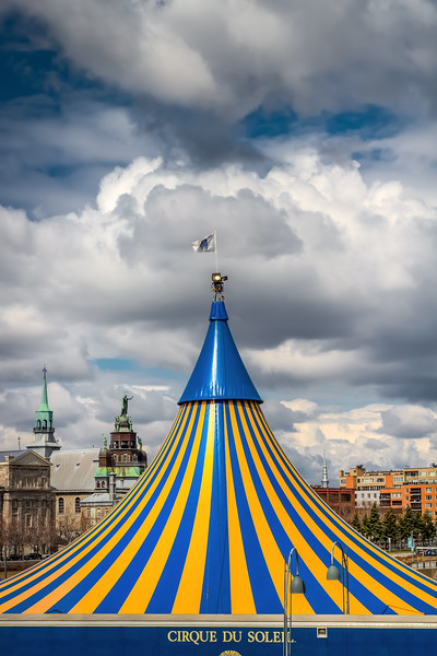 Cirque Du Solei in Old Montreal