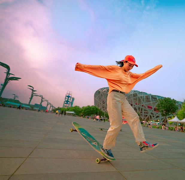 Longboarding In Beijing
