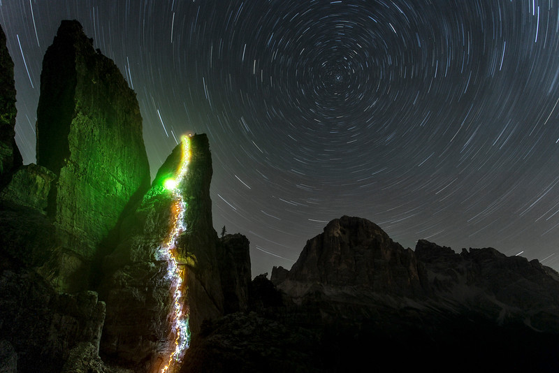 A night time ascent of Torre Quarta