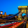 Chain bridge with a castle, Budapest
