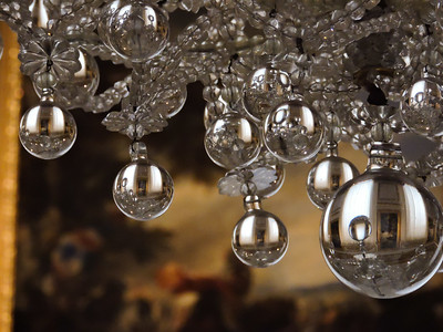Glass Chandeliers and Oil Paintings