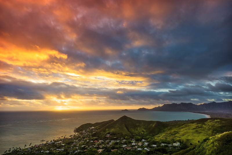 Burning Sky Over O'ahu (Hawaii)