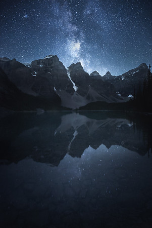 Night over Moraine Lake, Canada
