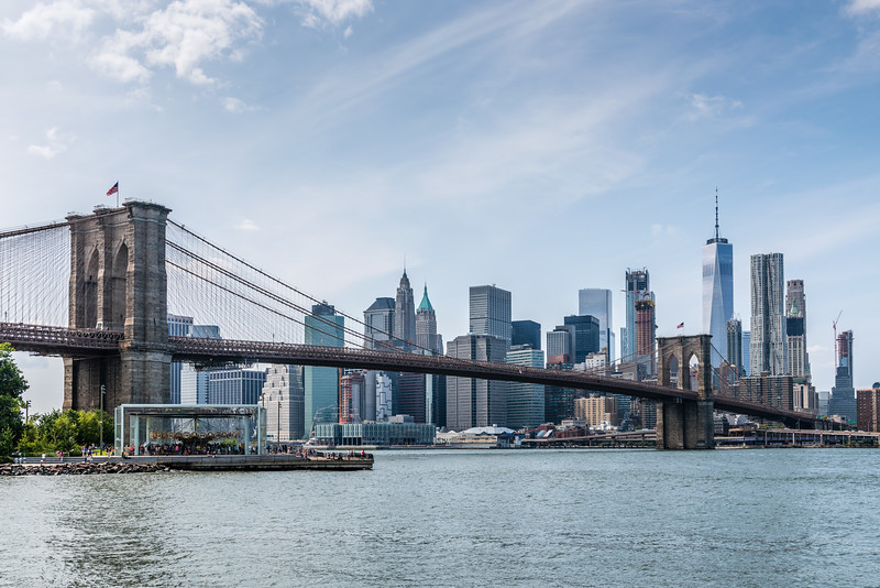 Brooklyn Bridge to Lower Manhattan