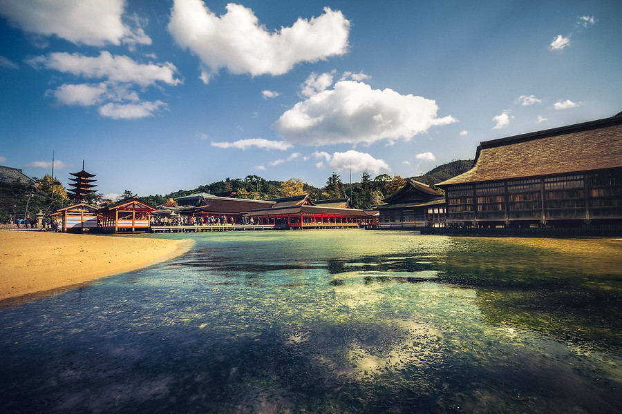 Low Tide at Miyajima Japan. Miyajima Japan is one of the greatest beauties in all of Japan in my opinion. It's an island of culture and tradition that makes you realize how awesome people can be.
