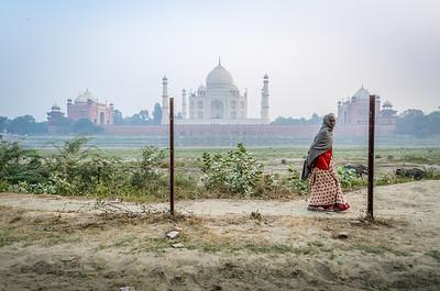 Behind the Taj Mahal, Agra