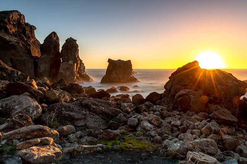 Sunset at Wedding Rock, Patricks Point St Pk, Trinidad, Ca.