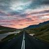 Road to the Sunset in Iceland