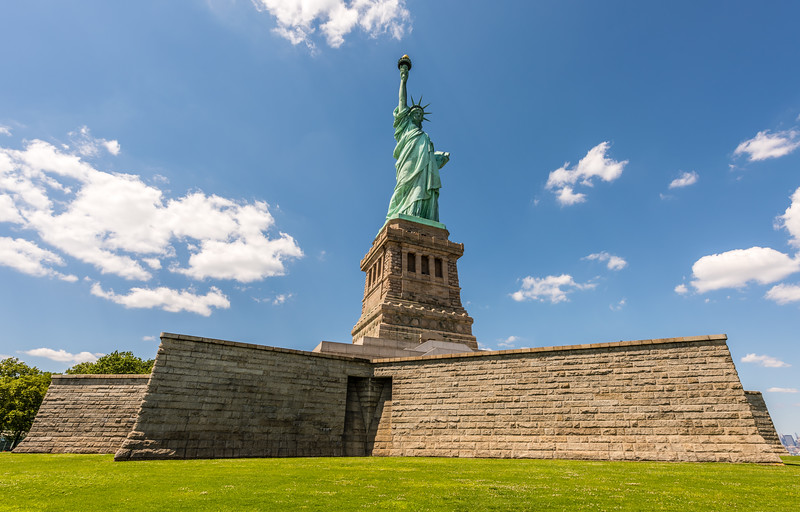 Lady Liberty on Her Pedestal