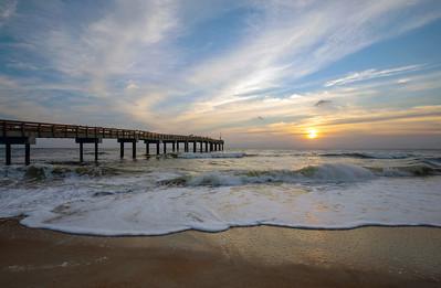 Sunrise at the St Augustine Pier