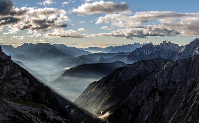 Early morning light in the Auronzo Valley
