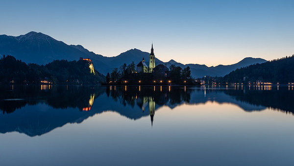 Bled Lake Island before Sunrise