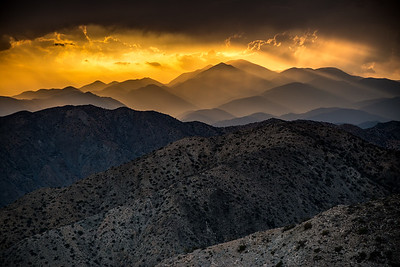 Sunset, Keys View, Joshua Tree National Park, California