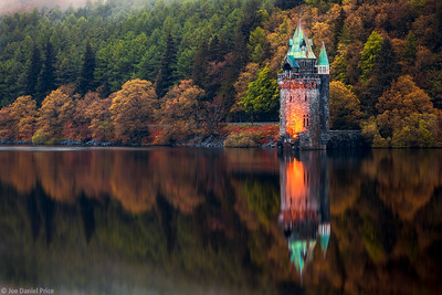 Sifting Tower Reflection, Lake Vyrnwy, Snowdonia, North Wales