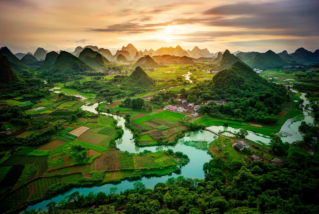 Sunset In Southern China