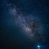 Cap Blanc lighthouse under stars