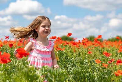Chloe in the Poppy Field